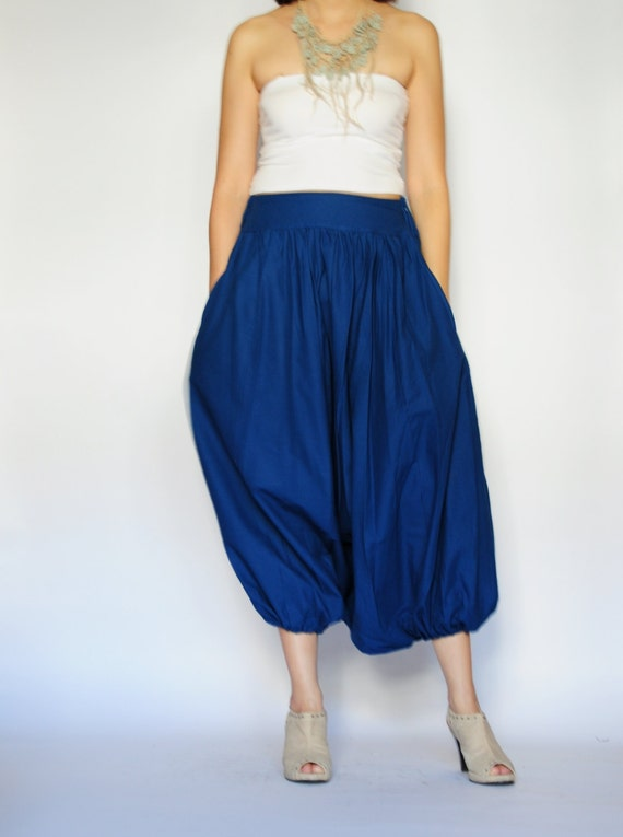 SALE 50% All Around The World Part II...Dark blue Cotton Harem Pants