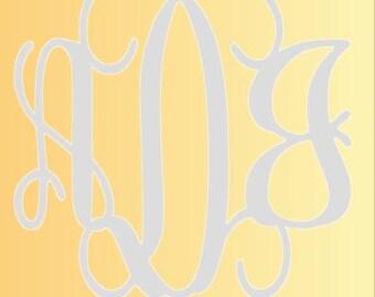 Vinyl wall monogram, large monogram art