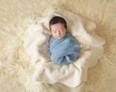 Faux Sheepskin Newborn  Photo Prop Fur and Suede Reversible Photography Prop Large