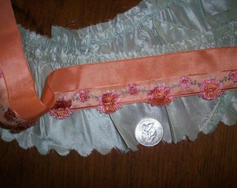 1 foot of a Rare antique silk  french ribbon