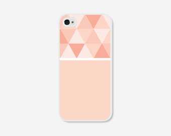 Geometric Phone Case - Ombre Peach Color Block Geometric iPhone 4 / 4s - 5 / 5s - 5c Case - Coral iPhone 5c Case - iPhone 5 Case - iPhone 4s