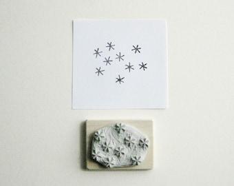 Star Cluster Hand-Carved Rubber Stamp
