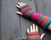 ARM WARMERS - Wicked mittens - extra long, gift for her, knitwear UK