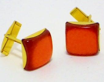 SALE Vintage Red Cuff Links, Accessories, Men