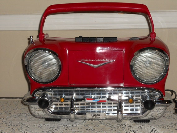 Vintage radix 57 chevy am fm radio amp cassette player nice