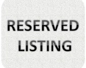 Reserved Listing for Earrings