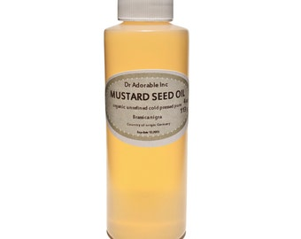 4 oz  Pure Mustard Seed Oil Organic Cold Pressed