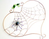 Large Heart Spider Web with Purple Spider Perfect Gift for Entomologists and Bug Lovers