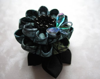 A Dance of Dragonflies Kanzashi Flower Hair Clip