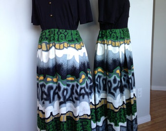 Vintage Handmade Retro Boho Dress / Chic 70s Maxi Fashionable Dress / Festival Wear