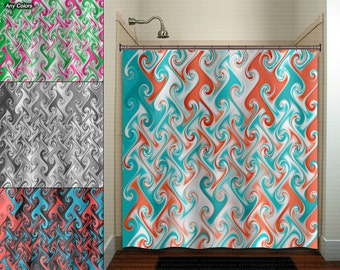 Teal And Orange Shower Curtain The Hippest Galleries