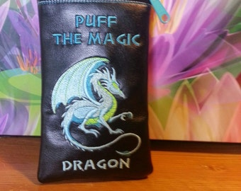 Custom puff the magic dragon pipe pouch