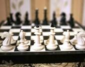 "Vintage Soviet Chess - Full Set - Plastic - 15"" inch board - 1980s - from Russia / Soviet Union / USSR"