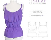 SALE - 50% OFF - Flounce Top PDF Sewing pattern