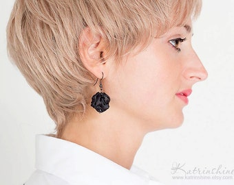 Black fabric  Earrings