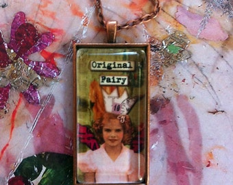 Original  Fairy Another Colorful Copper Fairy Pendant Necklace By AlteredHead