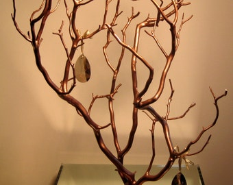 Manzanita Jewelry Tree with Crystals