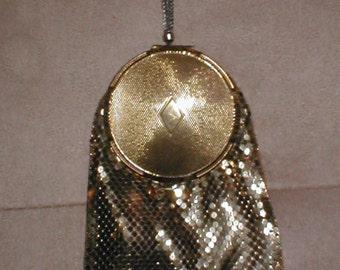 RARE Vintage Gold Metal Mesh Purse