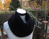 Pick Your Color Custom Knitted Cowl Neck Scarf - Pick Your Color Chunky Hand Knitted Scarf