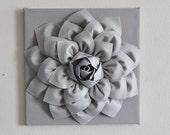 Silver Gray Wall Flower Wall Hanging, Nursery Art, Baby Art, Wall Decor, Holiday Decor, Holiday Wall Art, Christmas, Gray Nursery