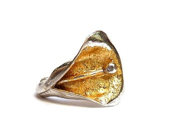 Ring Big Calla in Gold