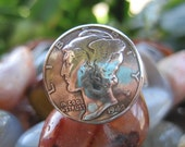 Beautiful Domed Mercury Dime Ring with Sterling Silver Band MADE TO ORDER.