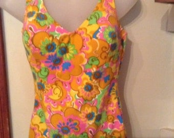 60's Vintage Gimbel Brothers Bathing Suit 60's Mod