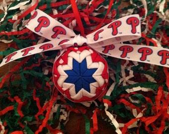 Phillies Folded Christmas Star Ornament