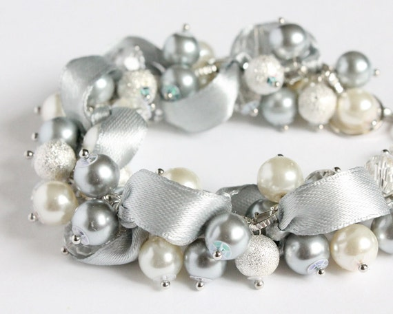 https://www.etsy.com/listing/151774871/silver-gray-pearl-cluster-bracelet-and