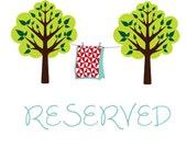 Reserved Listing for Kristin at kjokiegirl