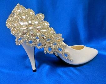 Rhinestone Deco Clips, Art Deco Shoes, Rhinestone Bridal Shoes, Rhinestone Wedding Shoes, Crystal Wedding Shoes, Crystal Bridal   Shoes