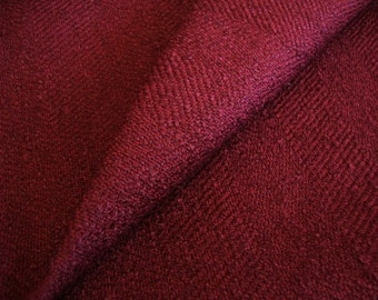 """49"""" Wide Cotton Poly Blend Brick Red Fabric Nubby Herringbone Pattern Upholstery Fabric for Headboards Chairs Ottomans ST"""