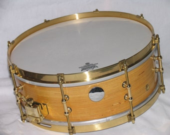 Custom made Snare Drum with patented shell construction by American Percussion.com