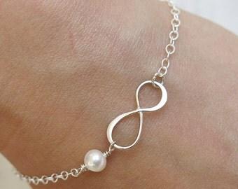 silver bracelet, Infinity bracelet, stackable bracelet, thin bracelet, delicate bracelet, minimalist bracelet, friendship bracelet,