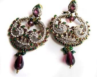 Purple prom earrings | Etsy