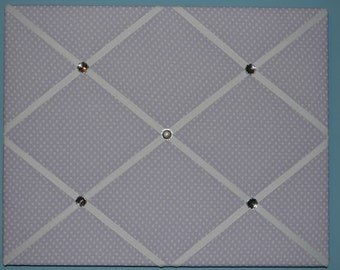 Purple with white polka dot french memo board, 16 x 20