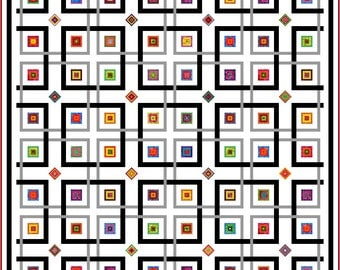 """YIPPY-I-O - 118"""" - Quilt-Addicts Pre-cut Patchwork Quilt Kit or Finished Quilt Large King"""