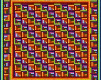 "ZAPPA - 91"" - Quilt-Addicts Pre-cut Quilt Kit or Finished Quilt King size"