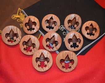 Scout Neckerchief Slide Handmade Solid Wood Handmade