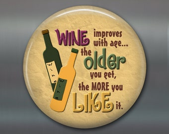 Wine lover gifts for her - wine magnets  - wine kitchen decor - funny housewarming gifts - refrigerator magnet - MA-1630