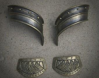 Loki Hand Guards and Vambrace Wraps - Cosplay Costume - Golden - Battleworn