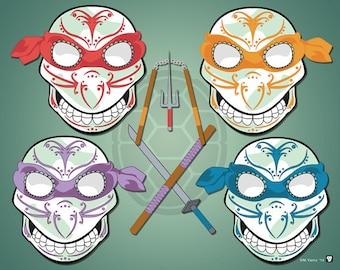 Teenage Mutant Ninja Turtles Sugar Skulls Print 11x14 print