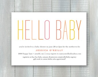 Hello Baby PDF Invitation
