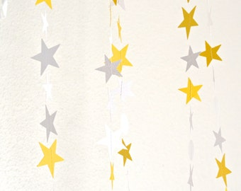 15 foot Twinkle Stars Garland - glitter stars and circles