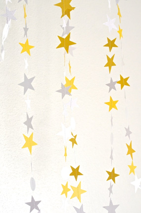 Twinkle Stars Garland - glitter stars and circles