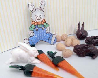 Miniature Easter Basket Items Dollhouse Decorations