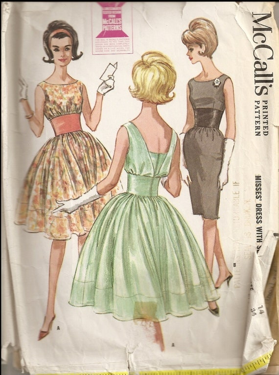 HOLD  Vintage early 1960s sewing pattern McCalls 6670 sz 14 - 34 bust
