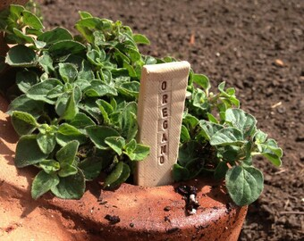 Made to Order - 6 Herb Garden Markers Pottery Handmade by Daisy Friesen
