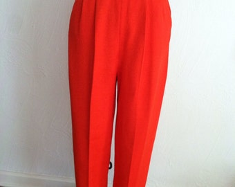 Tangerine Santana Knit Vintage ST JOHN Pleated Pants 10