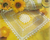 Crocheted Doily - Sunrise free shipping